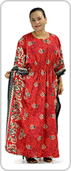 Beautifully flattering traditional long kaftan dress